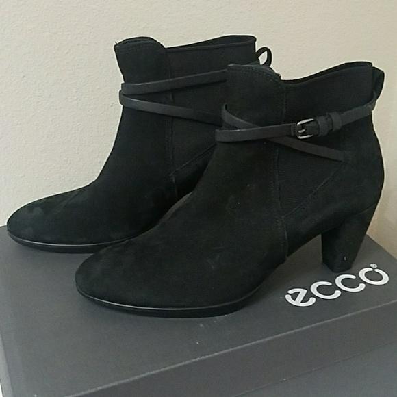 d7e2c0e6f198f Ecco Shoes | Shape 55 Plateau Black Suede Ankle Boots | Poshmark